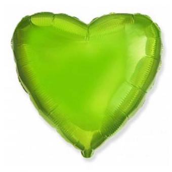 Сердце 18 дюймов(45х45см)  Лайм (салатовая)  FLEXMETAL