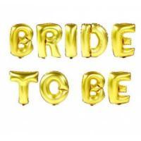 """Надпись BRIDE TO BE 16""""(40см) золото"""