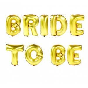 """Надпись TO BE BRIDE 16""""(40см) золото"""