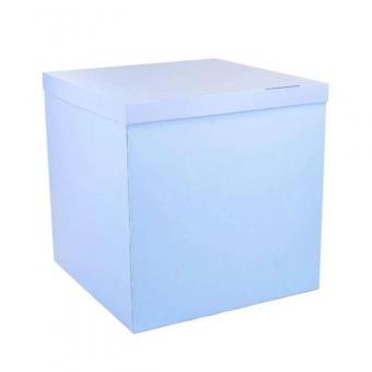 Коробка-сюрприз голубая 50х50см. (для шариков) (внутри белая)