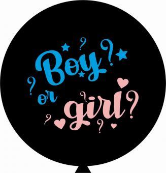 "Шар на определения пола ребенка ""Boy or Girl"", 31""/80 см."