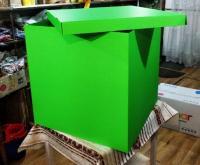 Коробка-сюрприз салатовая 50х50см. (для шариков)