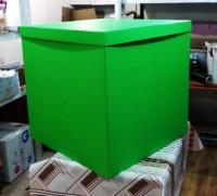 Коробка-сюрприз салатовая 70х70х70см. (для шариков)