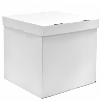Коробка-сюрприз белая 50х50см. (для шариков)