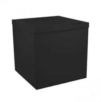 Коробка-сюрприз (для шариков) Черная 70х70х70см(бурая внутри)