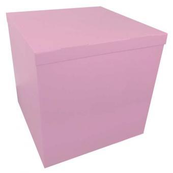 Коробка-сюрприз (для шариков) светло розовая 70х70х70см