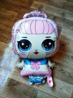 Фольга фигура кукла лол Китай розовая 70х45см.