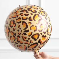 Фольга 3Д сфера Леопард