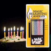 Свечи для торта Magic незатухающие 10 шт. с креплениями