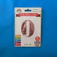 Цифра под гелий 0 средняя 80 см. розовое золото Jason Balloons