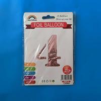 Цифра под гелий 4 средняя 80 см. розовое золото Jason Balloons