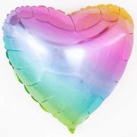 Сердце 18 дюймов(45х45см) радужное FLEXMETAL