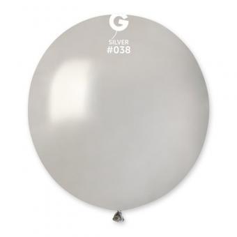 "Шарик 19"" (48 см)(серый №70 )"