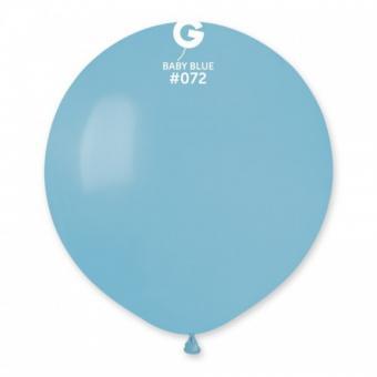 Шарик 19″(48см.) (Baby Blue №72) нежно голубой
