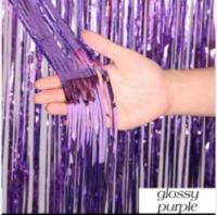 Шторка (дождик) из фольги для фотозон фиолетовая 1х2 м