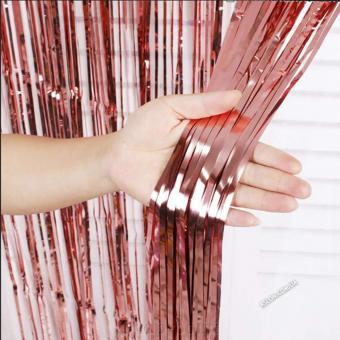 Шторка занавес из фольги для фотозон, Розовое Золото 1х2 м