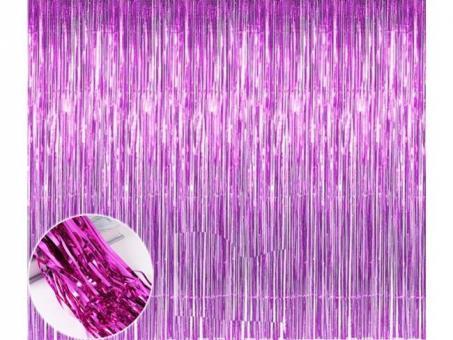 Шторка (дождик) малиновая 1х2 м. из фольги для фотозон