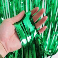 Шторка занавес из фольги для фотозон, Зеленые 1х2 м